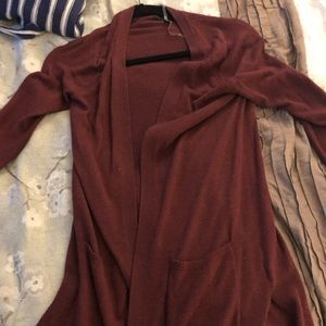 Maroon xs long cardigan